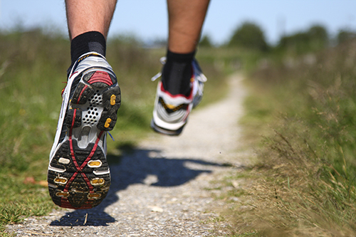 Running Shoes on path